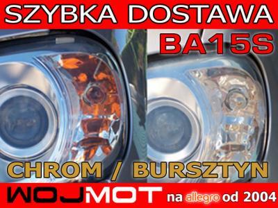 Żarówki CHROMowane do kierunkowskazów BA15S P21W P