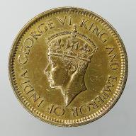 1943 Cejlon brytyjski Jerzy VI - 50 centów