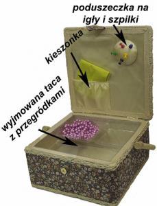 Niciarka szkatułka  pudełko na nici igły prezent