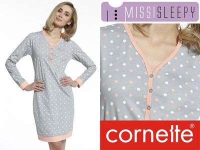d8d2fbd06eaf68 Bawełniana koszula nocna Cornette Megie Grochy XXL - 5847631260 ...
