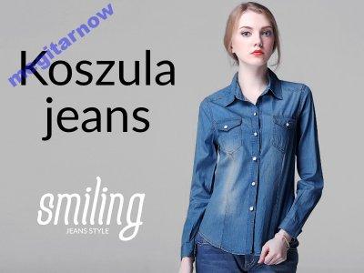 Damska Xxl Jeansowa Damskie Jeans 6555100812 Koszula Koszule bfg76y
