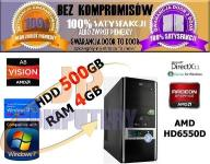 KOMPUTER QUAD CORE 4x3GHz 4GB 500GB ATI HD6550D
