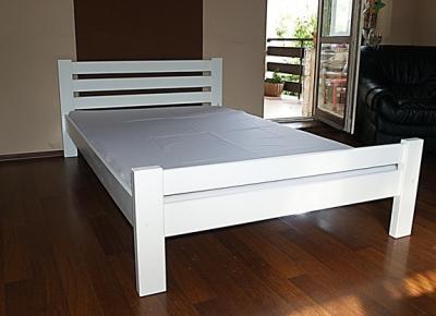 Poważnie białe łóżko drewniane sosnowe 120x200 ,wzór IKEA - 5529990971 FY75
