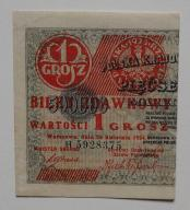 1 gr 1924 Bilet zdawkowy Ser H - LEWY stan. 2