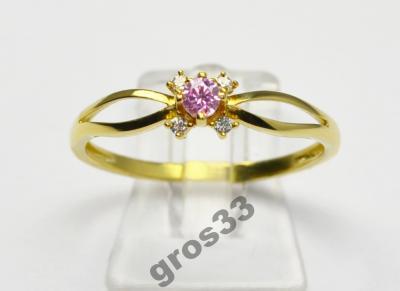 Tani Modny Złoty Pierścionek Zaręczynowy Korn 5173571186