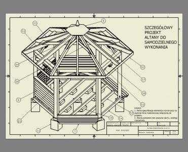 Projekt Altany Ogrodowej Altana Ogrodowa 6 Kątna