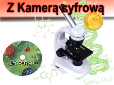 Profesjonalny mikroskop z kamerą cyfrową