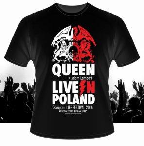 koszulka QUEEN + Adam Lambert na koncert Oświęcim