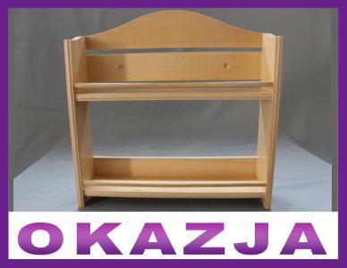 Półka Drewniana Na Przyprawy Do Kuchni Półki 5836113175