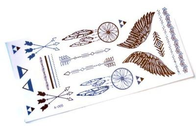 Tatuaże Metaliczne Złote Srebrne Flash Tattoo 6499583846