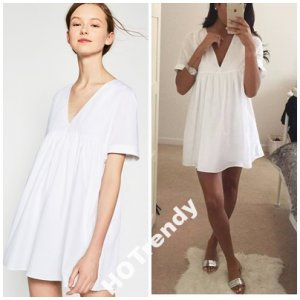 biała sukienka zara 2016