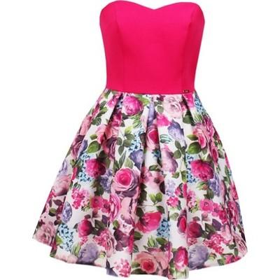 4fcf0f35c5 Sukienka Bianka fuksja w kwiaty Limoda - 6871642614 - oficjalne ...
