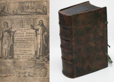 BIBLIA GDAŃSKA - II wydanie Amsterdam 1660
