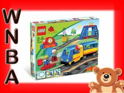 Klocki Lego Duplo Jeżdżący Pociąg Kolejka 5608 2986604970