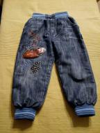 spodnie ocieplane dżinsowe Zygzak Cars rozm. 98