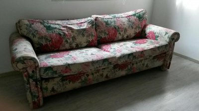 Kanapa W Kwiaty Ikea Floral Retro Sofa Vintage 6464880002