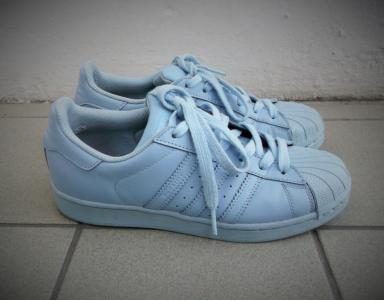 ab1a831d485b adidas superstar supercolor 38 2 3 błękitne blue - 5723411787 ...