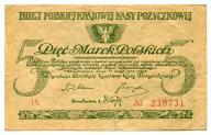 5 marek polskich 1919 IX