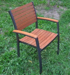 Meble Ogrodowe Krzeslo Fotel Drewno Aluminium 6467716280