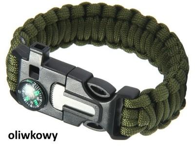 OPASKA PARACORDOWA 5w1 WBUDOWANY KOMPAS OLV 907