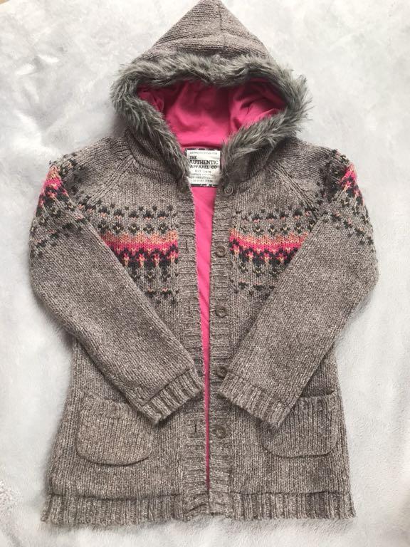 Cardigan sweter rozpinany ociepl. 146 cm 10 l BDB