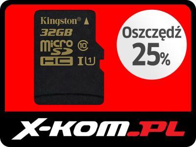 Nowość Karta microSDHC Kingston 32GB 90MB/s UHS-I