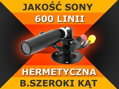 Kamera SONY CCD 600TVL mini MIKRO szeroki kat_IP66