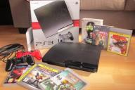PlayStation 3 PS3 SLIM 250 GB + 2 pady + 6 gier