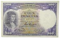 36.Hiszpania, 100 Peset 1931, P.83, St.3+