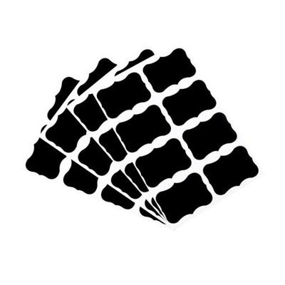 Naklejki Etykiety Kredowe Słoiki Doniczki 108 Szt