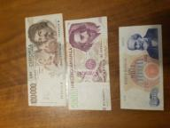 Set banknotes from Italy 1
