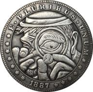 Hobo Nickel 1887 USA Morgan ONE DOLLAR