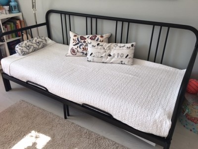 łóżko Młodzieżowe Metalowerozkładane Z Materacem