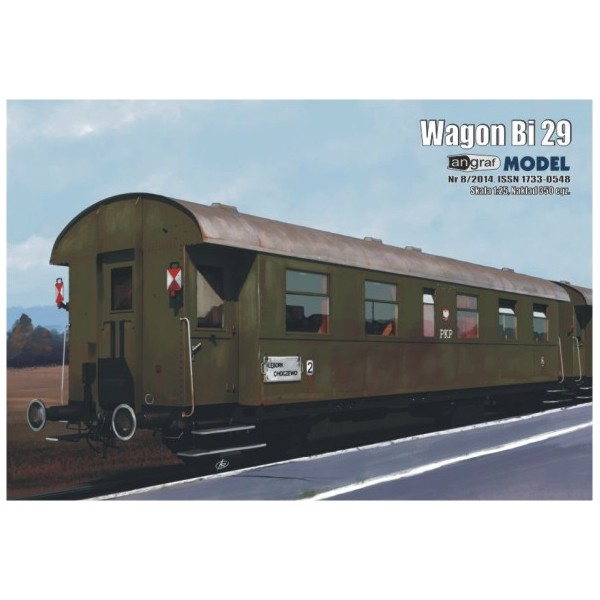 Wagon osobowy Bi 29 1:25 Angraf Model