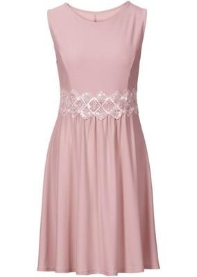 336e8a77a2 Sukienka z koronkową w różowy 40 42 L XL 944935 - 6625904781 ...