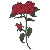 Naszywka naprasowanka termo piękna róża