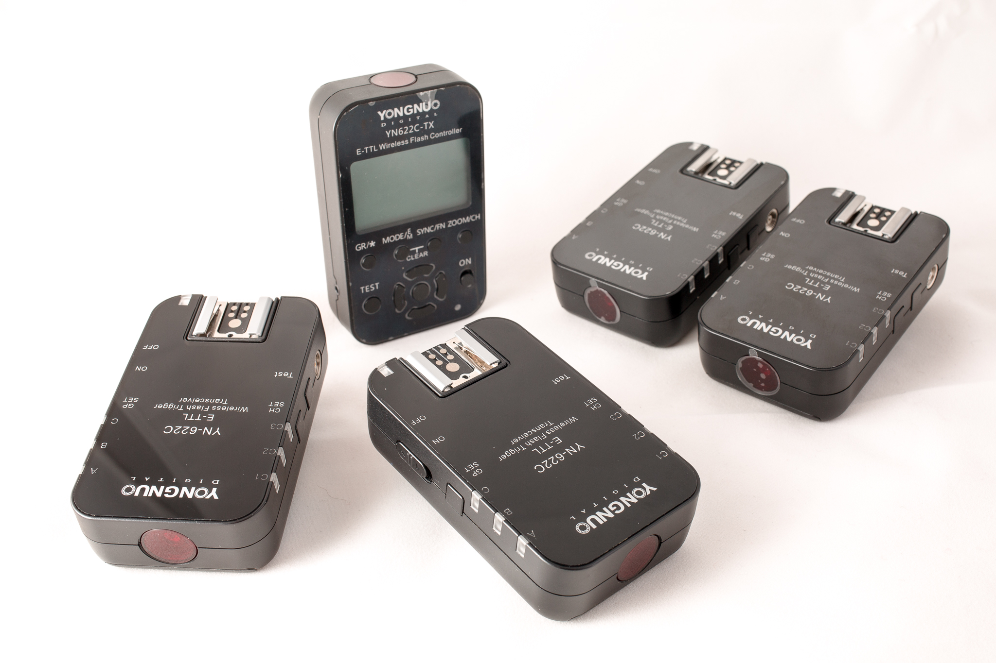 Zestaw wyzwalaczy 4x YN-622C + YN-622C-TX (Canon)