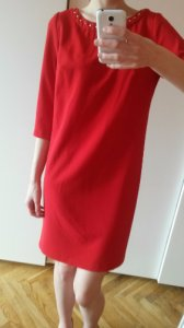 93146c94 Czerwona sukienka Mohito 34/XS