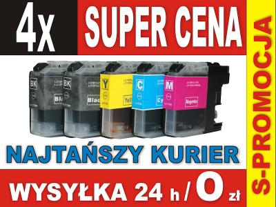 4 x TUSZ BROTHER LC123 LC125 LC127XL MFC-J4510DW