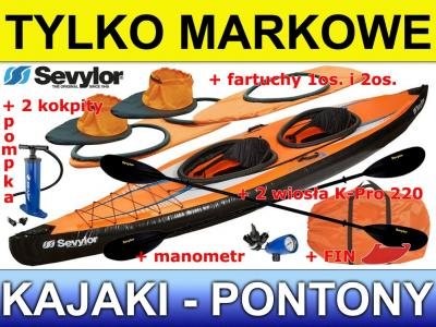 Kajak Sevylor POINTER K2 + FARTUCHY +K-PRO 220 +RB