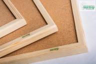 Tablica korkowa 100x120 drewniana + gratis a1
