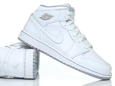Buty Nike Air Jordan 1 Mid 554725 112 Białe