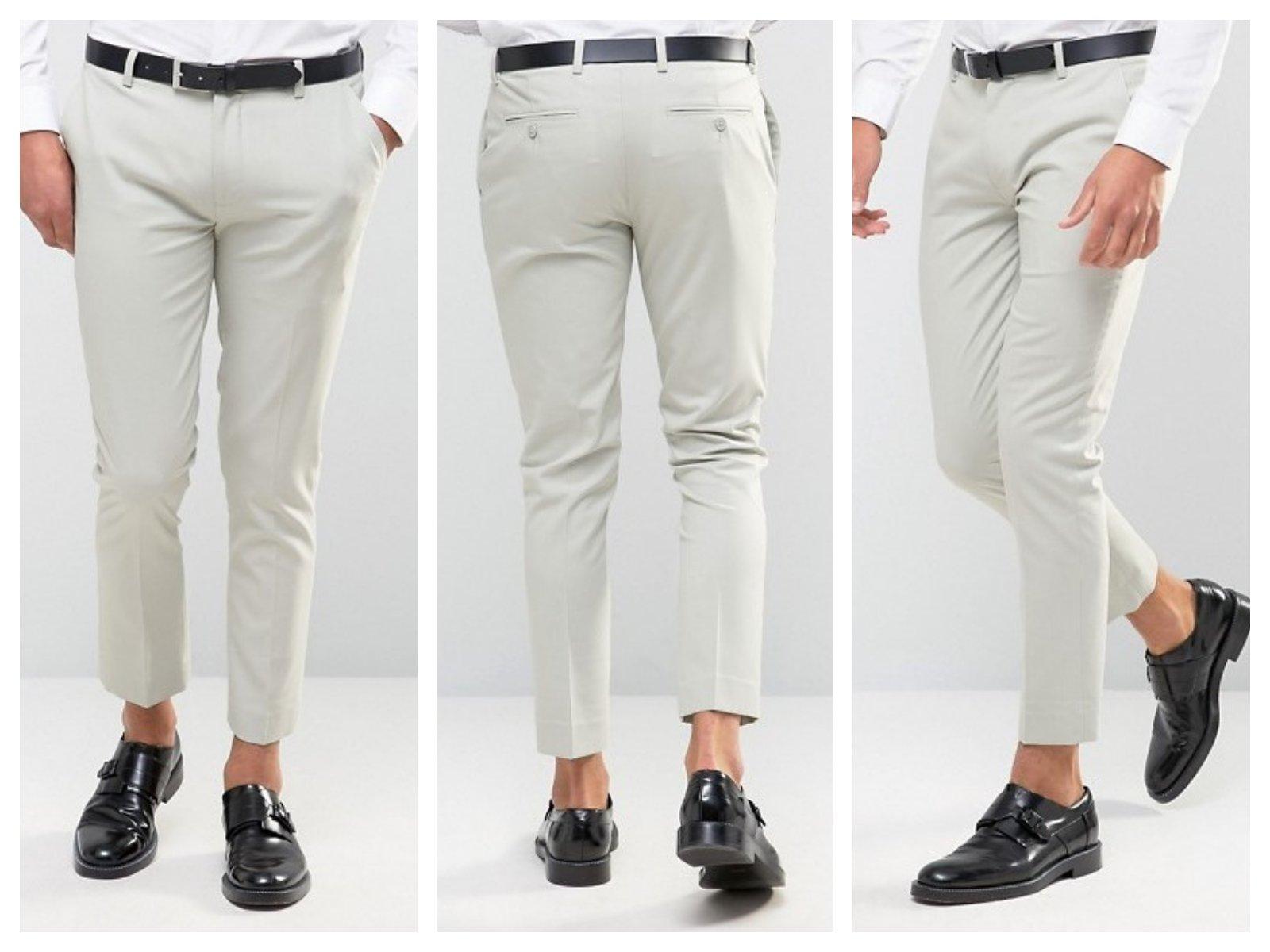 mf0 spodnie skinny szare eleganckie galowe W29 L30