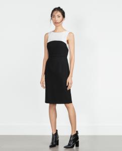 biała sukienka z lampasami zara
