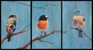 Obraz - Ptaki - tryptyk, płótno