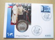 Papież Jan Paweł II Filipiny koperta