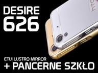 ETUI MIRROR LUSTRO BUMPER HTC DESIRE 626 + SZKŁO