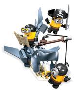 Mega Bloks MINIONKI Figurki Piraci z rekinem