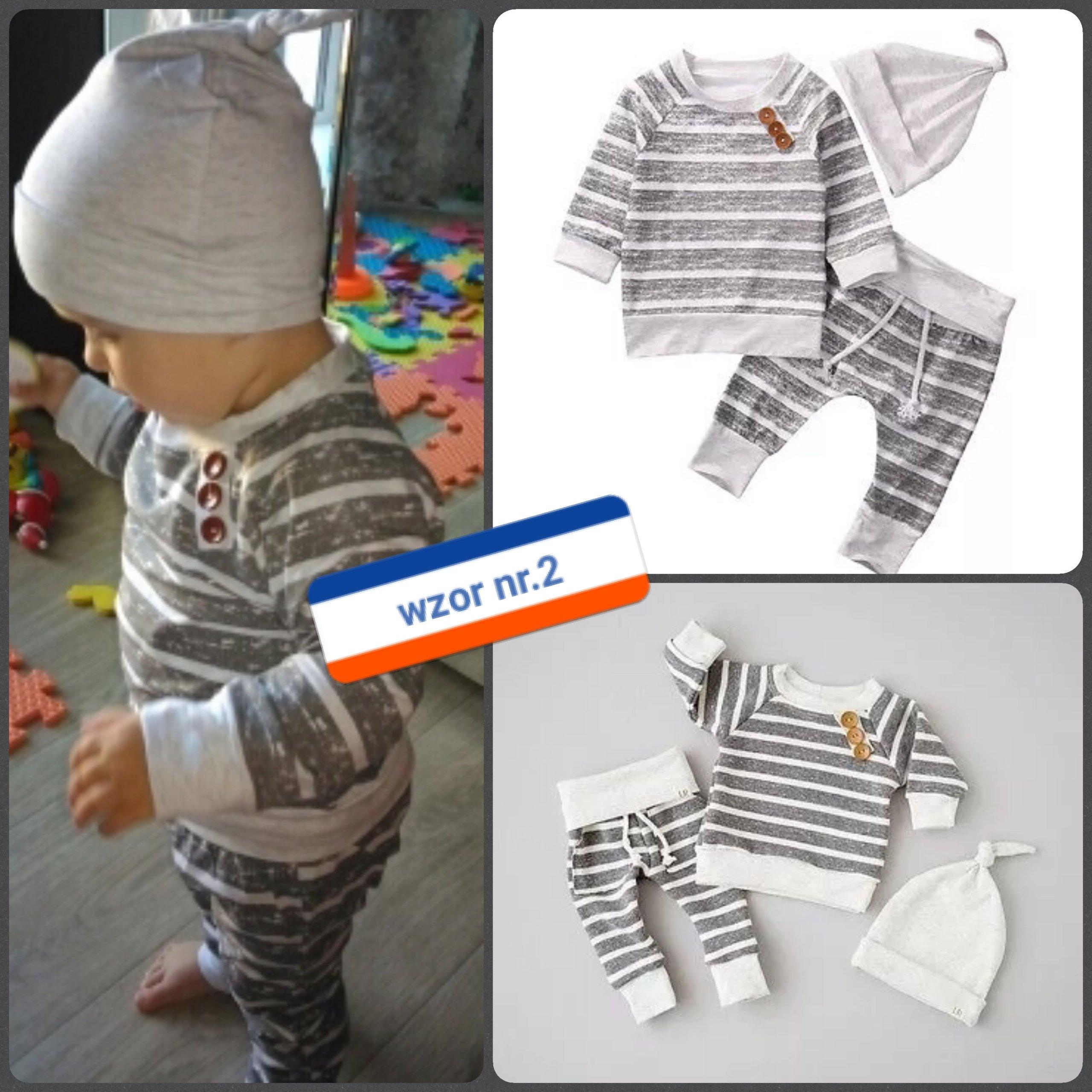 11c2cea83a Komplet dresik zestaw ubranko niemowlę 62 68 74 80 - 7021943284 ...