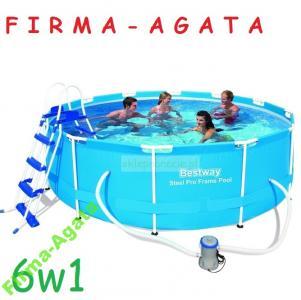 6w1 Basen Stelazowy 366 X 100 Cm Bestway 56418 6051672593 Oficjalne Archiwum Allegro